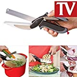 PETRICE Clever Cutter 2-in-1 Food Chopper Multifunction Kitchen Vegetable Scissors Cutter-Replace Kitchen Knife...