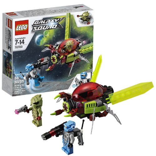 Lego Year 2013 Galaxy Squad Series Vehicle Set #70700 - SPACE SWARMER with Grabber Mouth, Opening Cockpit, Moving Wings and Poseable Legs Plus 2 Minifigures: Alien Buggoid and Robot Sidekick (Total Pieces: 86) (Lego Robot Minifigure Pieces compare prices)