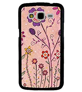 Printvisa Pink And Puple Flowers Back Case Cover for Samsung Galaxy J7::Samsung Galaxy J7 J700F
