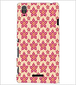 SONY XPERIA T3 FLOWER PATTERN Designer Back Cover Case By PRINTSWAG