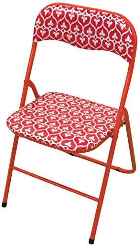 Galileo Casa Mandala Mandala Sedia Pieghevole, Seduta in PVC, Rosso Scuro