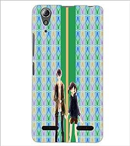 PrintDhaba Couple D-4281 Back Case Cover for LENOVO A6000 (Multi-Coloured)