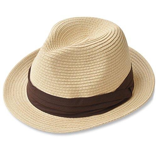 折りたたみ可能! 大きいサイズ 大きい メンズ レディース 麦わら帽子 ストローハット 000319-0076-58