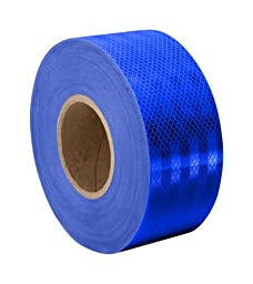 3M 3435 Blue Micro Prismatic Sheeting Reflective Tape 2.25\