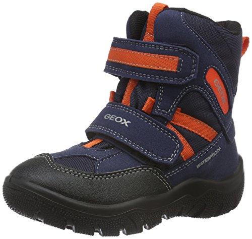 Geox Jr Frosty Boy Wpf D, Stivali da Neve Bambino, Blau (Navy/Orangefluoc4074), 24 EU