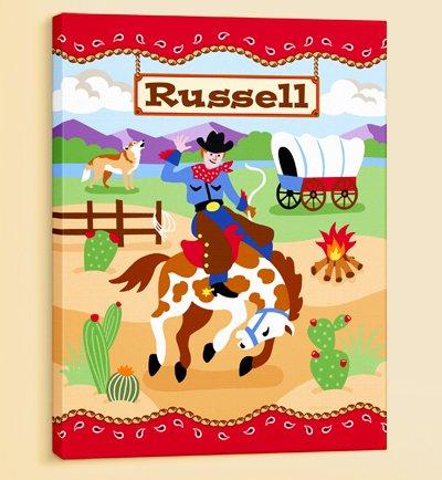 Olive Kids - Ride Em Personalized Canvas Art front-883624