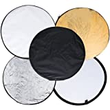 Generic 60cm 5 in 1 Portable Photography Studio Collapsible Light Reflector(Gold, Silver, White, Black and Translucent)