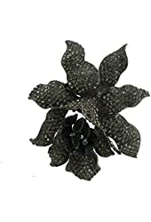 TTjewelry Classic Crystal Rhinestone Large Flowers Orchid Brooch Pins Woman Jewelry B10461600