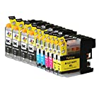 Ink & Toner Geek ® - 10 Pack Compatible Replacement Inkjet Cartridges for LC-101 LC-103 LC-103 XL (LC-103BK, LC-103C, LC-103M, LC-103Y) Black Cyan Magenta Yellow For Use With Brother DCP-J132W DCP-J152W DCP-J172W DCP-J4110DW DCP-J552DW DCP-J752DW MFC-J245 MFC-J285DW MFC-J4310DW MFC-J4410DW MFC-J450DW MFC-J4510DW MFC-J4610DW MFC-J470DW MFC-J4710DW MFC-J475DW MFC-J650DW MFC-J6520DW MFC-J6720DW MFC-J6920DW MFC-J870DW MFC-J875DW (4 Black, 2 Cyan, 2 Magenta, 2 Yellow)