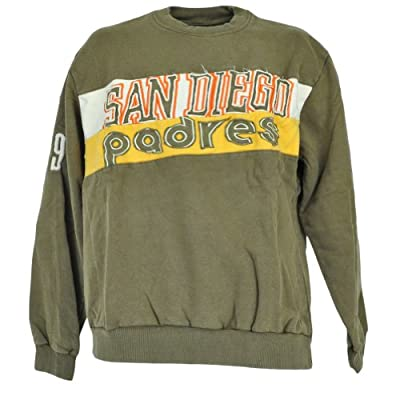 MLB San Diego Padres Crew Neck Sweater Distressed Pullover Adult Size