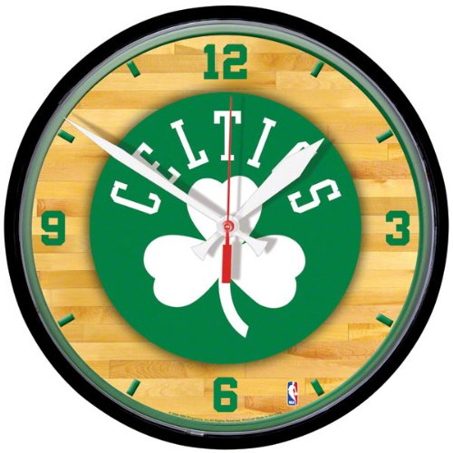NBA Boston Celtics Round Clock