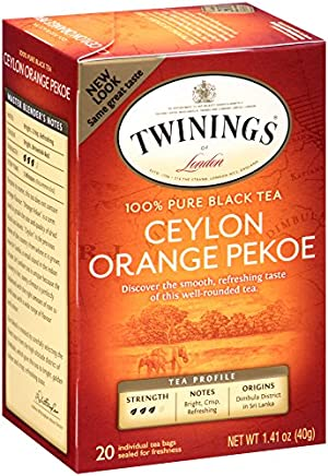 Twinings Black Tea, Ceylon, 20 Count Bagged Tea