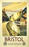 Bristol Clifton Suspension Bridge (old rail ad.) steel fridge magnet (se)