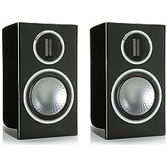 モニターオーディオ 2ウェイブックシェルフ型スピーカーピアノブラック【ペア】Monitor Audio GOLD100PB
