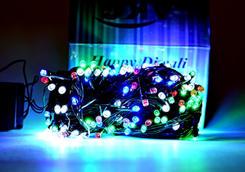 ASCENSION 90 ft approx Multi Colour Rice lights Serial bulb decoration light with Remote function for diwali navratra christmas