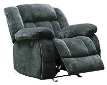 Big Sale Homelegance 9636CC-1 Laurelton Textured Plush Microfiber Glider Recliner Chair, Gray