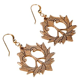 Peace Lotus Peace Bronze Earrings On French Hooks