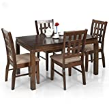 Royal Oak Daisy Four Seater Dining Table Set (Dark Brown)