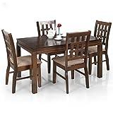 Royal Oak Daisy Four Seater Dining Table Set (Dark Brown)