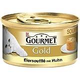 Gourmet Gold Katzenfutter Souffle mit Huhn, 12 Dosen (12 x 85 g)