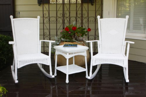 Portside 3 Piece Rocker Seating Group with Cushions Finish: White image