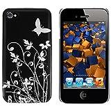 """mumbi Schmetterling Blumen H�lle iPhone 4s 4 Schutzh�lle (Harte R�ckseite) Butterfly schwarzvon """"mumbi�"""""""