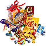 The Retro Sweets Cube From A Quarter Of - Box Crammed Full Of Mouthwatering Old Fashioned Retro Sweets - Perfect Inexpensive Birthday Gift, Get Well Soon, Congratulations or Anniversary Present Ideas For Him and Her: Boys & Girls, Mums & Dads, Men & Wome