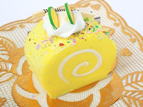 ロールケーキ型 ヘアピン 子ども スイートティーブレイク イエロー