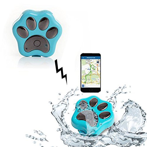 Wosports Waterproof Ip66 Anti-lost Wifi GPS Pet Tracker Collar Attachment Safety Alarm for Dog Cat Rf-v30 (Blue)
