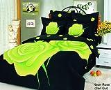 Le Vele - Neon Rose Sari Gul Duvet Cover Bed in Bag Full Queen Bedding LE08 ....