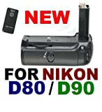 51hYmK575pL. SL160  New Battery Grip For Nikon D80 D90 MB D80 & More with IR REMOTE!