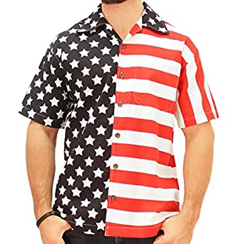 s american flag bowling shirt clothing