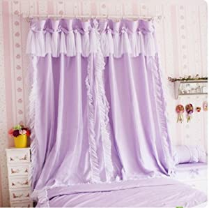 Amazon.com - Korean Style Princess Purple Curtains for Girls Room ...