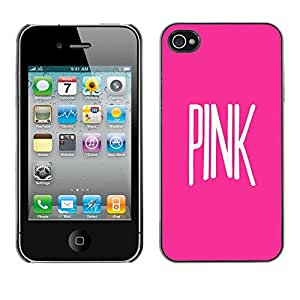 Omega Covers - Snap on Hard Back Case Cover Shell FOR Apple iPhone 4 / 4S - Text White Music Artist Singer