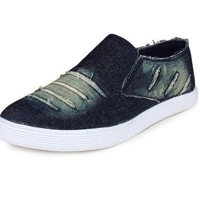 SRV Mens Blue Denim Casual Stylish Loafer Shoes