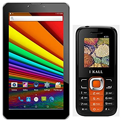 I KALL N1(3G+Wifi Voice Calling) with K99(Orange) Feature Phone