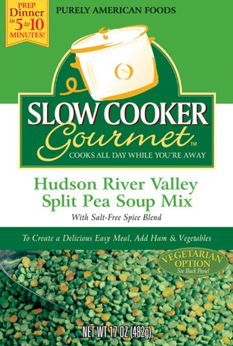 Slow Cooker Gourmet Hudson River Valley Split Pea Soup Mix 17 Ounce Boxes Pack of 6