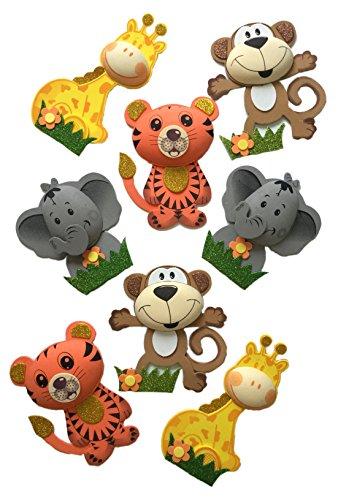 Safari Jungle Zoo Large Animals (8