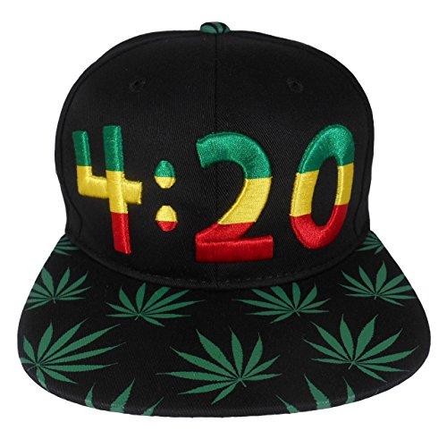 Cap2shoes-Marijuana-Weed-Leaf-Cannabis-Snapback-Hat-Cap-420-Green
