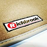 Honda Insight (2010 Onwards) Genuine Richbrook Luxurious Beige 980g Velour Carpet Car Floor Mats with Beige Leather Trim