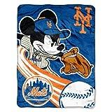 MLB New York Mets 46x60-Inch Micro Raschel Throw