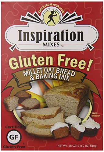 Inspiration Mixes Gluten Free Bread and Baking Mix, Millet Oat, 18 Ounce (Sugar Free Cream Cheese Frosting compare prices)