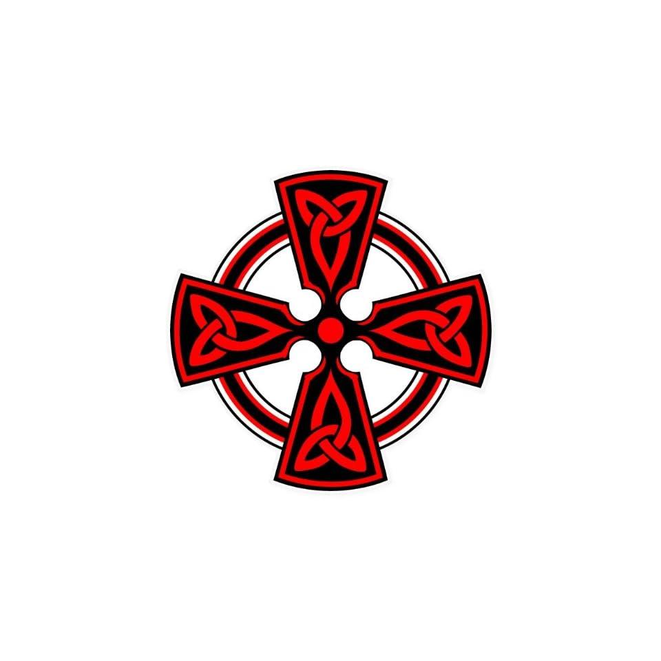 Celtic Cross Vodicka car bumper sticker window decal 4 x 4