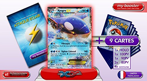 KYOGRE EX XY41 (PROMO) 180PV XY05 - Booster optimisé ATTAQUE ECLAIR de 10 cartes pokemon Francaises