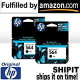 NEW Original HP 564 Black 2-PACK CB316WN - Ink Cartridge SHIPS FAST - in Retail Box Packaging