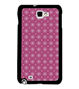 Fuson Premium 2D Back Case Cover Pink circle pattern With White Background Degined For Samsung Galaxy Note 2::Samsung Galaxy Note 2 N7100