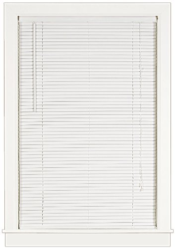 Achim Home Furnishings Deluxe Sundown 1-Inch Blind, 29-Inch by 64-Inch, White