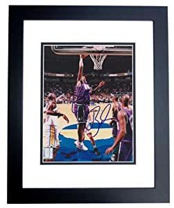 Vin Baker Autographed Hand Signed Milwaukee Bucks 8x10 Photo - BLACK CUSTOM FRAME by Real Deal Memorabilia