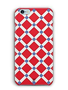 YuBingo Red Square Pattern Mobile Case Back Cover for Apple iPhone 6 Plus