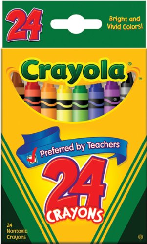 Binney & Smith Crayola(R) Standard Crayon Set, Tuck-Box, Assorted Colors, Box Of 24in.